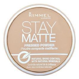 RIMMEL LONDON Stay Matte Long Lasting Pressed Powder 003 Peach Glow - puder 14g - 003 Peach Glow